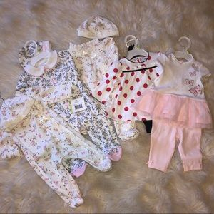 Lot of 5 NWT Little Me Baby Girl Outfits
